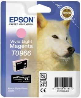 Epson világosbíbor tintapatron, 1 darab, T0966, Vivid PC