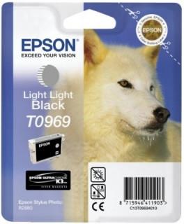 Epson világosfekete tintapatron, 1 darab, T0969 PC