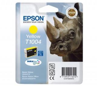 Epson sárga tintapatron, 1 darab, T1004, DURABrite Ultra tinta PC