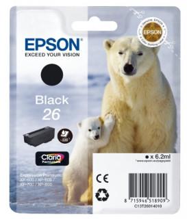 Epson fekete tintapatron, 1 darab, 26, Claria Premium tinta PC