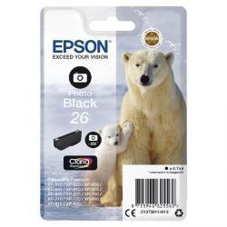 Epson fotó fekete tintapatron, 1 darab, 26, Claria Premium tinta PC