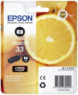 Epson tintapatron Singlepack Photo Black 33 Claria Premium Ink PC
