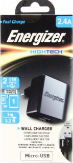 Energizer micro USB hálózati töltő, 2 USB, 2.4A, Mobil
