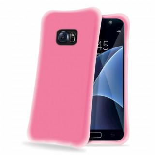 Celly Galaxy S7 ütésálló szilikon hátlap, pink Mobil