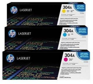 HP LaserJet 304A 3 darabos ciánkék/bíbor/sárga tonerkazetták PC
