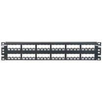 Panduit 48 portos UTP, FTP patchpanel (üres, Mini-Com modulokat fogad) PC