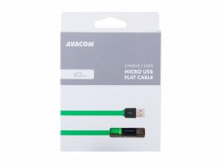 AVACOM MIC-40G kábel USB - Micro USB, 40cm, zöld Mobil