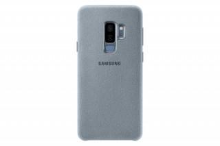 Samsung Galaxy S9+ Alcantara bőr hátlap, Menta Mobil