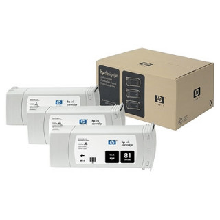 HP 81 3 darabos fekete tintapatronok PC