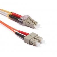 Duplex multimódusú patchkábel 50/125µm (OM2), 2xLC-2xSC, 2m  . PC