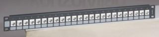 LEGRAND üres keystone patch panel 1U-19' árnyékolatlan (UTP) 24xRJ45 port fogadá PC