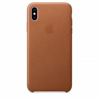 Apple iPhone XS Max bőr hátlap, Barna Mobil