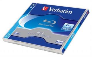 VERBATIM BD-R BluRay lemez, 25GB, 6x, normál tok PC