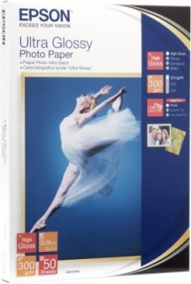 Epson Ultra Glossy Photo Paper, DIN A4, 300g/m?, 15 Sheets PC