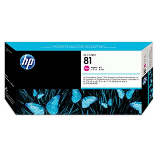 HP 81 bíbor festék, nyomtatófej és nyomtatófej-tisztító PC