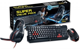 Genius KMH-200 Gaming billentyű+egér+headset USB HUN PC