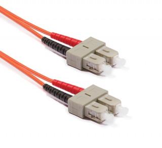 Duplex multimódusú patchkábel 50/125µm (OM4), 2xSC-2xSC, 2m PC