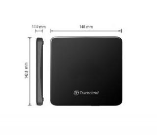 Transcend külső DVD író USB2.0, Ultra Slim, fekete PC