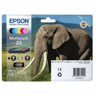 Epson világos bíbor tintapatron, 1 darab, 24, Claria Photo HD tinta PC
