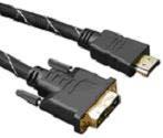 Rainbow összekötő kábel, DVI-HDMI, 3 méter, aranyozott PC