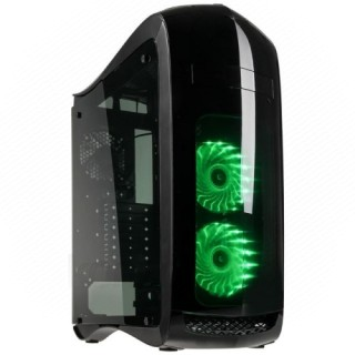Számítógépház Kolink Punisher RGB ATX Fekete Ablakos PC