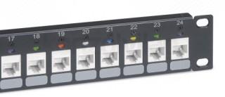 LEGRAND üres keystone patch panel 1U-19' árnyékolt (STP) 24xRJ45 port fogadására PC
