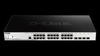 D-link 28-Port Gigabit PoE+ Smart Switch including 4 SFP Ports PC