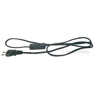 Emos S09272 Flexo 2 méter fekete kapcsoló kábel PC