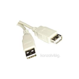 PRC USB 2.0 A- USB 2.0 A 2m hosszabbító kábel PC