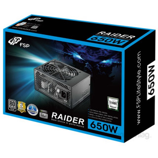 FSP RAIDER S 650W GAMER 80+ SILVER tápegység PC