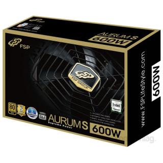 FSP Aurum S 600W fekete Gamer 80+ Gold tápegység PC