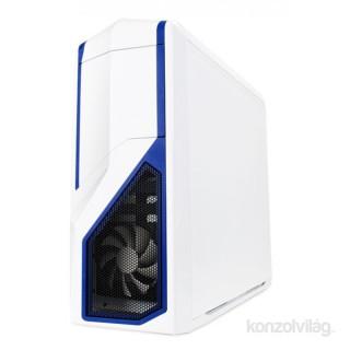 NZXT Phantom 410 Fehér-Kék (Táp nélküli) ATX ház PC