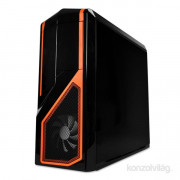 NZXT Phantom 410 Fekete-Narancs (Táp nélküli) ATX ház PC