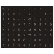 PRC fehér betű fekete alap  magyar billentyűzet matrica PC