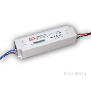 Mean Well LPV-35-12 IP67 12V 35W tápegység PC