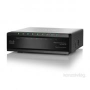 Cisco SG200-08 8 LAN 10/100/1000Mbps Smart menedzselhető asztali switch PC