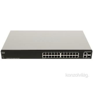 Cisco SG200-26 26 LAN 10/100/1000Mbps, 2 miniGBIC menedzselhető rack switch PC