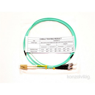 Optikai Patch kábel 2m LC/UPC - ST/UPC MM 50/125 OM3 LSOH DLX PC