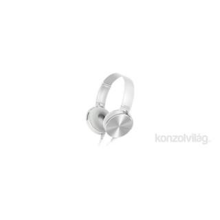 CE7 fehér mikrofonos fejhallgató 833e859305