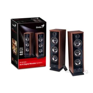 Genius SP-HF2020 v2 2.0 jack 4 utas 60W fa fekete Hi-Fi hangszóró PC
