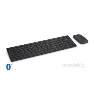 Microsoft Designer Bluetooth Desktop Fekete Dobozos HUN Egér kombó billentyűzet PC