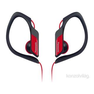 Panasonic RP-HS34E-R 3.5mm jack piros-fekete clip on fülhallgató PC