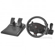 Trust GXT288 Force Vibration Steering Wheel PC/PS3 gamer kormány + pedál PC