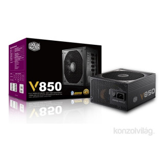 Cooler Master V850 Fully-Modular 850W PFC 12 cm ventillátorral dobozos tápegység PC