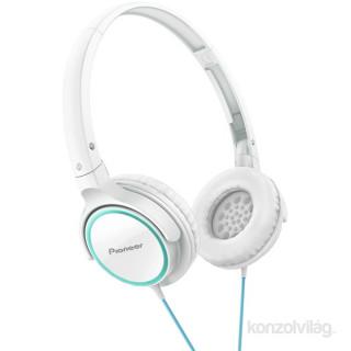 Pioneer SE-MJ512-GW fehér-türkiz fejhallgató PC