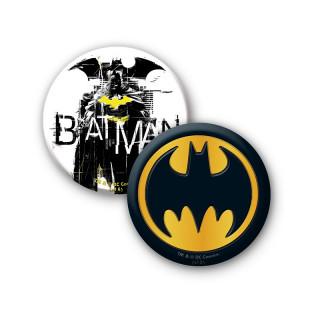 DC COMICS - Bögre + Kulcstartó + Kitűzők - Batman (460ml) Ajándéktárgyak