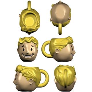 FALLOUT - Vault Boy Head 3D Bögre Ajándéktárgyak