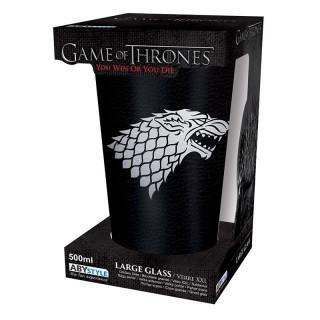 GAME OF THRONES - Large Glass - 500 ml - Targaryen - Foil - Pohár Ajándéktárgyak