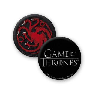 GAME OF THRONES - Bögre + Kulcstartó + Kitűzők - Targaryen (460ml) Ajándéktárgyak