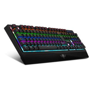 Spirit of Gamer Billentyűzet Mechanikus - XPERT K500 (105 gomb, SOG brown, RGB LED,USB, full anti-ghost, fekete, magyar) PC